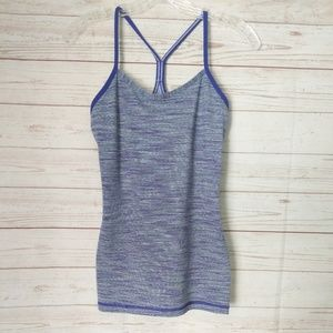 Lululemon Power Y Tank Top Tonka Stripe Purple 6